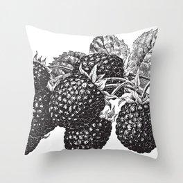 Vintage Blackberry Throw Pillow