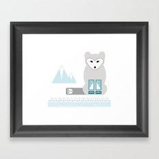 Kettu the Arctic Fox Framed Art Print