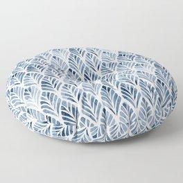 Indigo Forest Floor Pillow