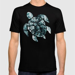 Sea Turtle - Turquoise Ocean Waves T-shirt