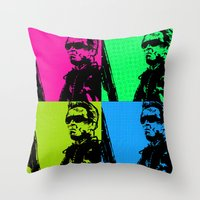 terminator Throw Pillows featuring Terminator by Bolin Cradley Art