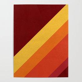 Retro 70s Color Palette II Poster