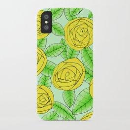 Golden Roses // Floral Print iPhone Case