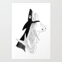 Sharktits! Art Print