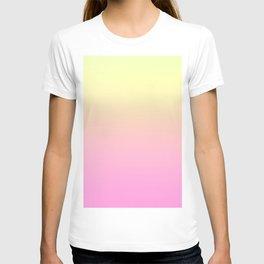 PEACH DREAMS - Minimal Plain Soft Mood Color Blend Prints T-shirt