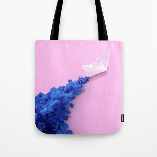 PAPER BOAT INK Tote Bag