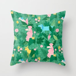 Stop and Sniff the Flowers Throw Pillow