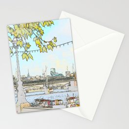 London River Scene Stationery Cards