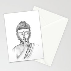 Shh... Do not disturb - Buddha Stationery Cards