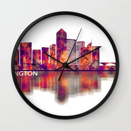 Arlington Texas Skyline Wall Clock