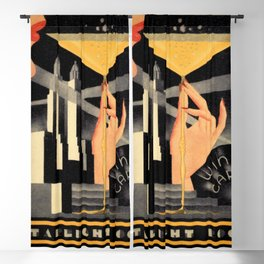 1930's Waldorf Astoria Hotel NYC The Starlight Roof, Champagne Wine Card Vintage Poster Blackout Curtain