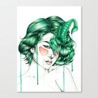 """scorpio Canvas Prints featuring """"Scorpio"""" by Mia Desu"""