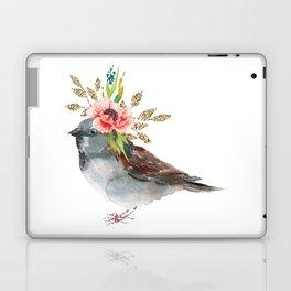 Boho Chic wild bird With Flower Crown Laptop & iPad Skin