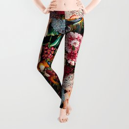 Floral and Animals pattern II Leggings