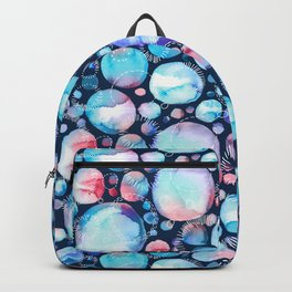 Pink and Blue Watercolor Universe Backpack