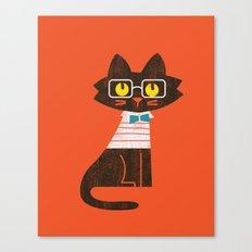 Fitz - Preppy cat Canvas Print
