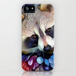 Peekaboo Raccoon iPhone Case