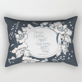 Ye werena the first lass I kissed. But I swear you'll be the last. Jamie Fraser Rectangular Pillow