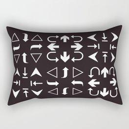 Arrows black and white Rectangular Pillow