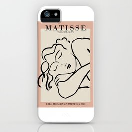 Henri matisse sleeping woman, matisse cut outs, cream and pink iPhone Case