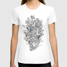 Blooming Flight White Womens Fitted Tee SMALL