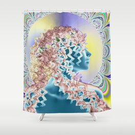 Psychedelic new romantic Shower Curtain