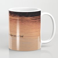 not all who wander Mugs featuring Wander by Nonna Originals