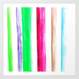 Color rows Art Print
