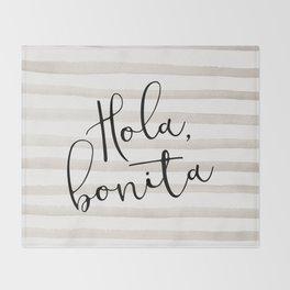 Hola Bonita Throw Blanket
