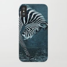 blue zebra iPhone X Slim Case