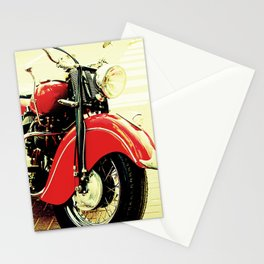 Motorcycle-Red Stationery Cards