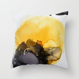 Black & Yellow Smoked Throw Pillow