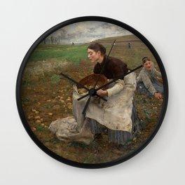 Jules Bastien Lepage - October, 1878 Wall Clock