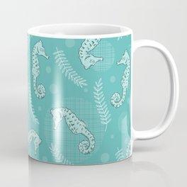 Seahorses In Teal Coffee Mug