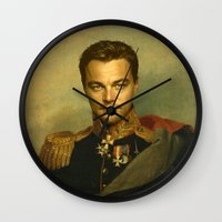 replaceface Wall Clocks featuring Leonardo Dicaprio - replaceface by replaceface