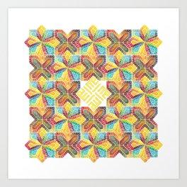 Allah, kufic, multicolor Art Print