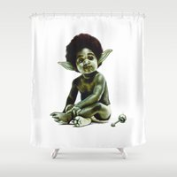 jedi Shower Curtains featuring Ready to JEDI by Jared Yamahata