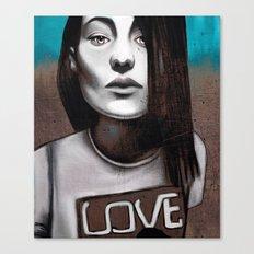 Girl love Canvas Print