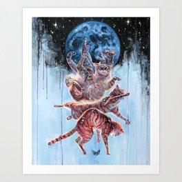 Felinoid Fall Art Print