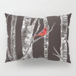 Lone Cardinal Pillow Sham