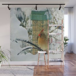 At The Feeder Wall Mural