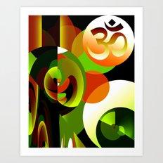 Om Symbol Abstract Design Art Print