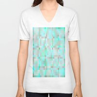 mint V-neck T-shirts featuring Mint by WhimsyRomance&Fun