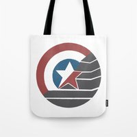 stucky Tote Bags featuring Stucky by Brittnee-Leigh