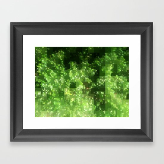 Digital Pointillism Framed Art Print