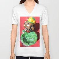 amsterdam V-neck T-shirts featuring Amsterdam  by sladja