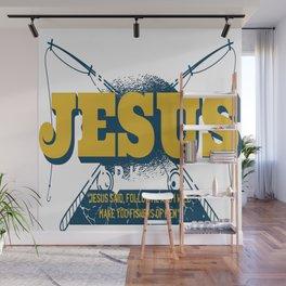 Hooked on Jesus Wall Mural