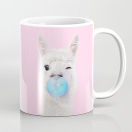 BUBBLE GUM LLAMA Coffee Mug