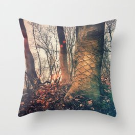 Scars of a life Throw Pillow