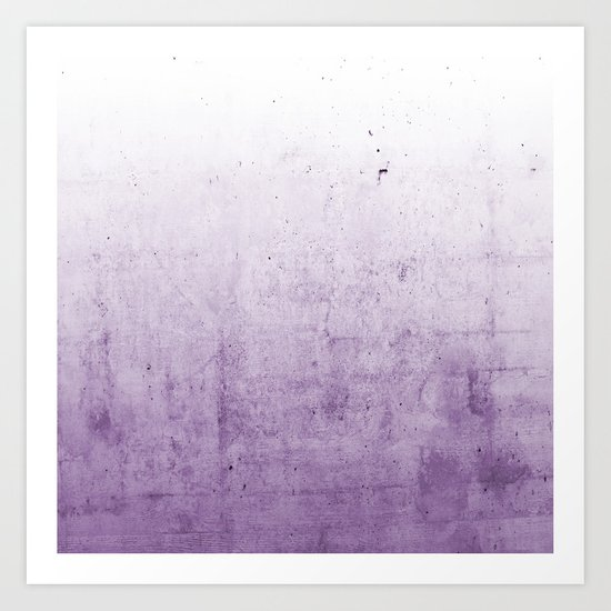 Radiant Orchid Purple Ombre  Art Print